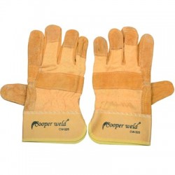COOPERWELD GLOVES LEATHER YELLOW H/D